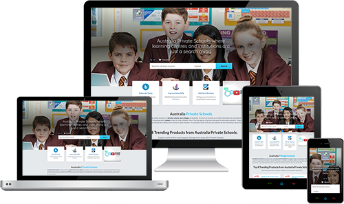 Australia Private Schools displayed beautifully on multiple devices